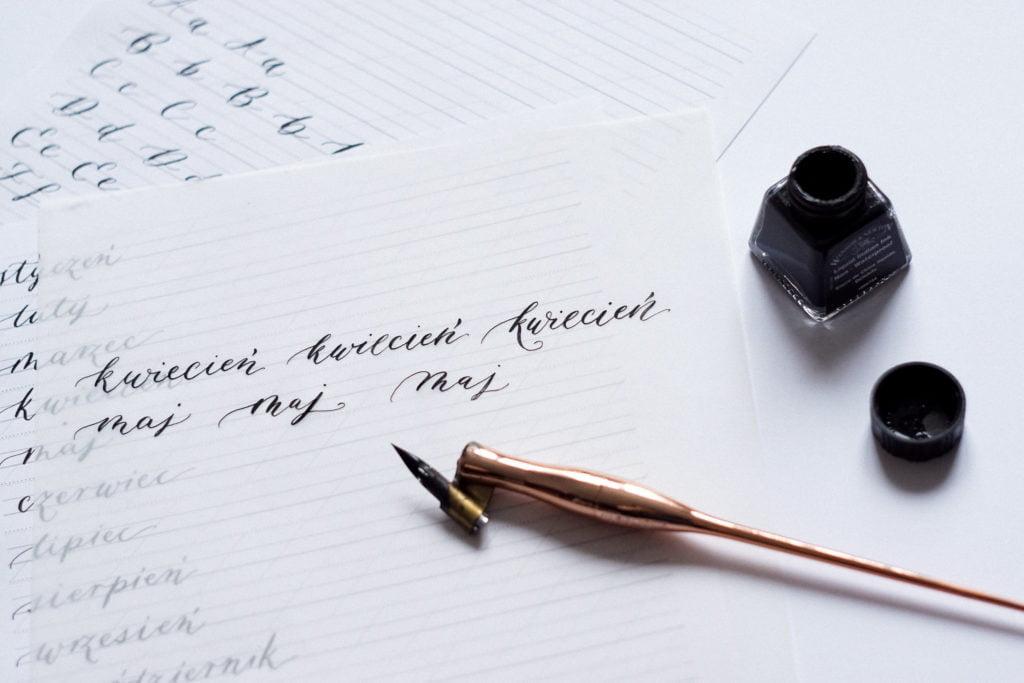 kaligrafia nowoczesna poradnik