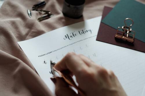 Zeszyt ćwiczeń do kaligrafii