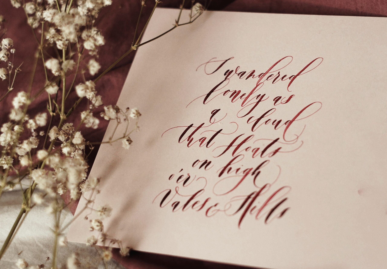 kaligrafowany wiersz