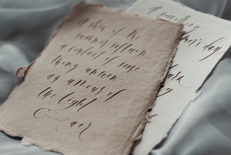 kaligrafia napapierze czerpanym